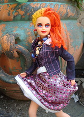 CYNDI LAUPER SINDY (toypincher) Tags: orange art altered garden hair toy beads punk dolls painted barbie made 80s cyndi punx custom eighties punks lauper sindy customised