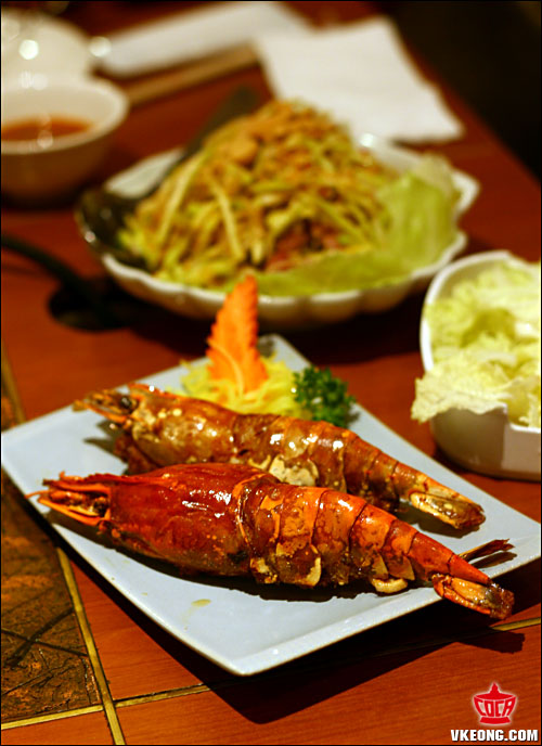 stuffed fresh water prawn