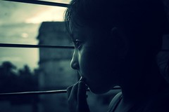 Shackled and scolded (NiH) Tags: window childhood lomo child memories niece dhaka bully bangladesh bangla shackle