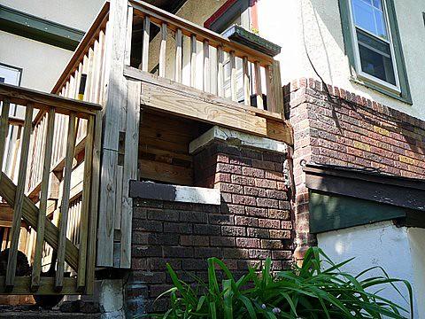 Back Steps No Fence