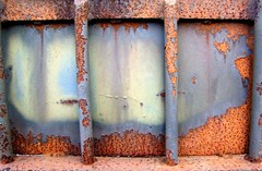 Rust, more rust..... (tina negus) Tags: urban abstract macro rust decay lincolnshire corrosion grantham industrialestate rustrules almapark