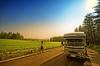 Driving in Furano (/\ltus) Tags: japan countryside hokkaido pentax freehand rv hdr furano hokkaidolife farmfield sigma1020mm campingcar 5xp 200806 japanhdr vantech k20d zil520