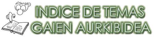INDICE / AURKIBIDEA