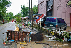 flood 9 - destruction (marsthird12) Tags: life road street pink trees houses homes windows red sky people house building tree green cars home window car weather truck frank table photography photo nikon gate mess post gates destruction photojournalism disaster tables lives posts buldings journalism typhoon calamity multicab d80 bagyo nikond80