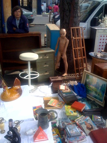 Timmy at the Paris flea market