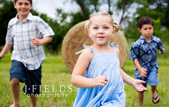 (J.Fields) Tags: brothers sister run mykids haybale