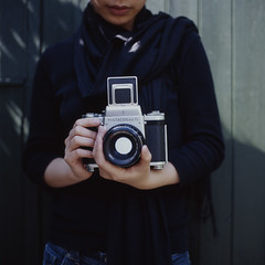 P (Society Works) Tags: 6 120 6x6 film mediumformat tl pentacon hasselblad501cm holdingcamera kodakektachromee100vs pentacon6tl carlzeissplanar80mmf28cfe