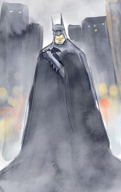 batman水彩