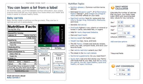 Nutrition Data.com 2
