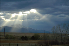 The Light After The Storm (a55belair) Tags: light mountain storm clouds colorado sunrays pikespeak stormclouds coloradothunderstorms