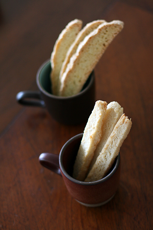 Biscotti and Coconut Sticks