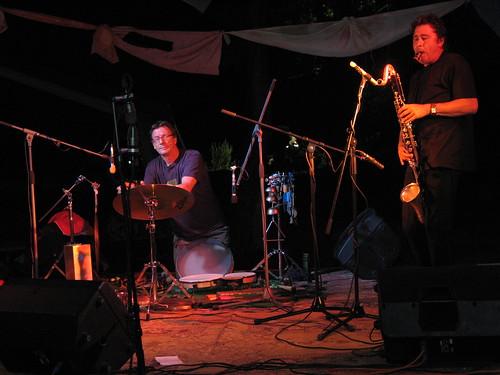 Louis Sclavis and Zlatko Kaučič at Sajeta 2008