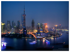 blade runner (staffh) Tags: china sky urban skyline night evening afternoon skyscrapers shanghai pano towers wide   shanghaiist  highrises density tallest urbanity   nusps