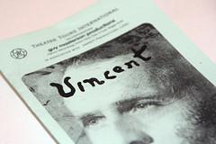 Vincent programme cover Edinburgh Festival Fringe