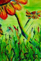 Floral Landscape detail 3  16x20 in. Acrylic on Canvas (stevenascroggins) Tags: art floral landscape happy acrylic class example scratchsniff