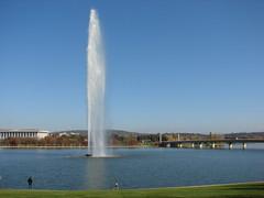 Captain Cook Memorial Jet (royskeane) Tags: travel lake water fountain jet australia canberra act 2007