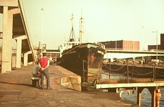 1970s - Cumberland Basin - the Harry Brown sand dredger (emmdee) Tags: bristol 1970s 1980s harrybrown bristoldocks cumberlandbasin sanddredger