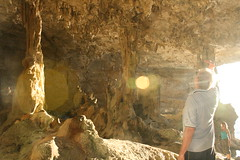 Ian in a cave at Niue