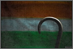 August 15th (poonomo) Tags: orange india white green texture umbrella paper paint flag nikond50 gandhi independenceday 50mmf18 gandhiji rammorrisonfav