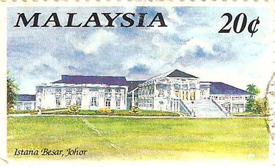 Malaysia Johor Palace Stamp