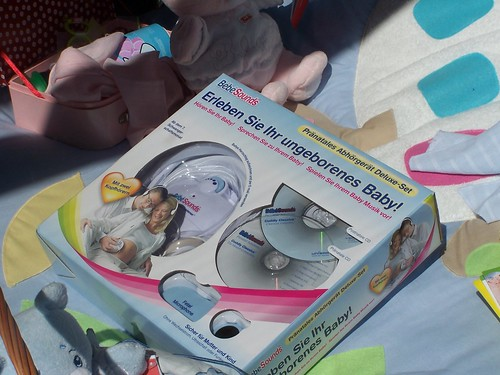 Pre-natal listening device, deluxe set