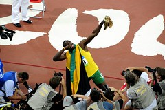 Usain Bolt after establishing the 200M World Record at the 2008 Olympic Games, Beijing (iceman9294) Tags: beijing jamaica olympicgames usainbolt