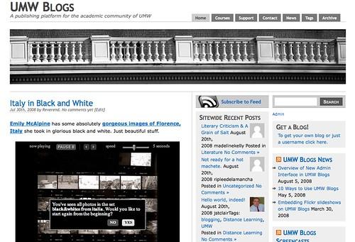 UMW Blogs Redesigned
