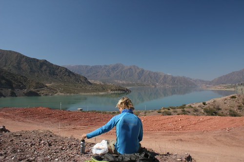 Lunch at the Lake Putrerillo, west of Mendoza, Argentina.