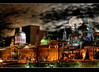 Montreal old port HDR (Ameed El-Ghoul) Tags: old city nightphotography panorama moon canada art colors night port cityscape quebec montreal explore oldport hdr besthdr