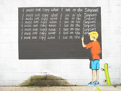 Banksy - New Orleans - I will not copy things I see on the Simpsons