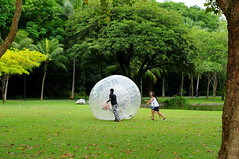 Zorbing at East Coast Park!