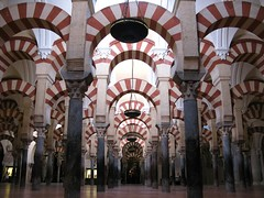 Seemingly infinite columns at the Mezquita, Cordoba, Spain