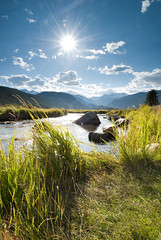Rocky Mountain National Park - The Middle Of Moraine (Amicus Telemarkorum) Tags: sun mountains green nature sunshine river landscape colorado stream meadows rivers rockymountain grasses streams moraine rockymountainnationalpark morainepark advancedyetiphotography jeffreyrueppelphotography