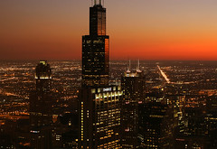 (Kevin Dickert) Tags: city nightphotography sunset urban chicago building skyline architecture night skyscraper buildings grid downtown cityscape skyscrapers loop dusk sears searstower fromabove highrise canon5d bluehour lookingdown downtownchicago nightfall chasetower citygrid 311southwacker canonef70200mmf4l attcorporatecenter blueperiod urbanchicago abovestreetlevel cityscrape willistower nightgrid iamhydrogen kevindickert threefinancialplaza
