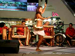 Night Dancers (Herb In Hawaii) Tags: life street city blue girls sunset sea people usa streets beach night mall shopping island lights hawaii sand downtown dancers pacific waikiki oahu photos hula band deep clean pacificocean shake honolulu jiggle performers herb bongos dancinggirls