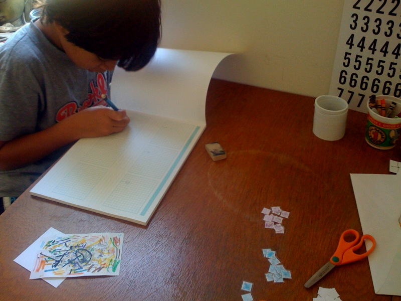Using the Konigi Storyboard Graph Paper to plan stop motion animation