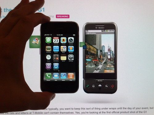 Apple IPhone 3G vs. HTC Dream/T-Mobile G1