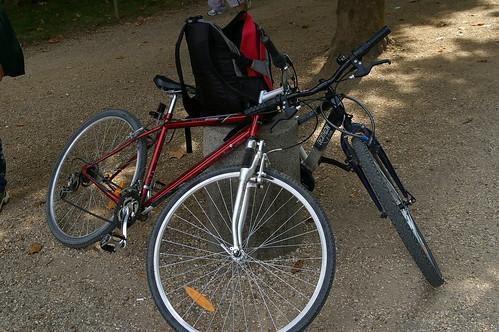 蘇鎮公園 02 - 素瓊姐借我們的單車