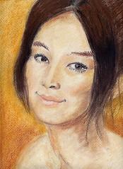 Asami Mizukawa Pastel Drawing