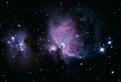 Orion nebula (M42) 10/05/08 (zAmb0ni) Tags: sky man stars running nebula astrophotography creativecommons orion m42 astronomy celestron c6n