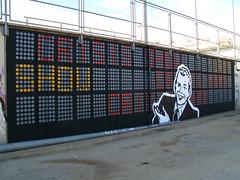 crisis show (nadie en campaña) Tags: barcelona show publicspace stencil crisis nadie politicalmessage