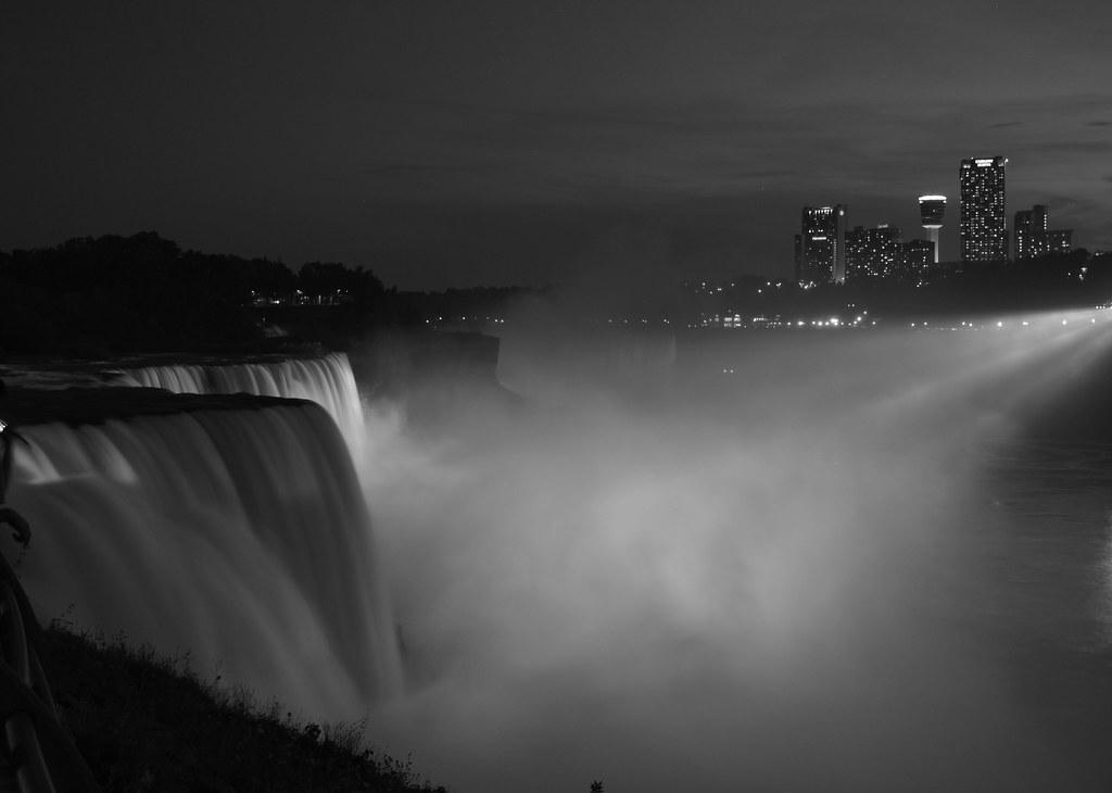 Lighting the falls..