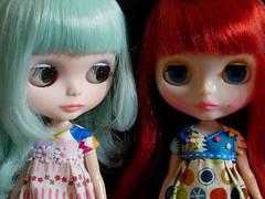 Lindsay and Sherbert trade hair