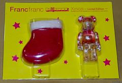 FrancFranc Christmas Bearbrick (tokyofashion) Tags: christmas xmas red japan stars toy japanese tokyo stocking 2008 package limitededition bearbrick berbrick japanesetoy francfranc