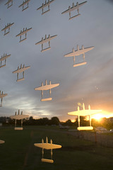 Duxford Autumn Airshow 051008 (rob  68) Tags: world autumn sculpture etched men scale glass lost army us missing memorial war force action britain aircraft air united navy cost images airshow crew american 400 ten duxford second almost operations panels states outlines 9th bomber 8th average counting types forces b17s renato groups represent 52 individual losses remembering designed 96th flown usaaf 91st 1240 051008 7031 depicted toughened incurred niemis