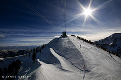 First Run (James Neeley) Tags: mountains landscape utah skiing saltlakecity snowbird mywinners jamesneeley flickr9