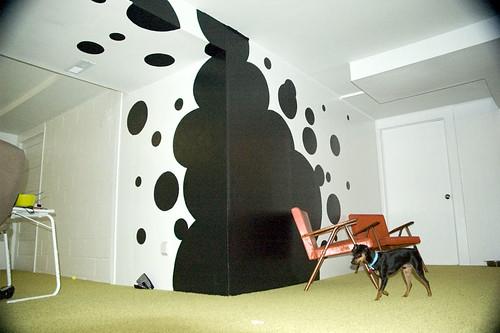 Basement new carpet-mural