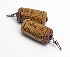 Wine Cork Earrings (weggart) Tags: wine cork earrings