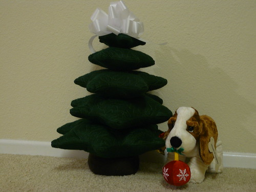 Holiday Tree and Basset