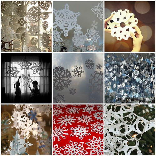 Paper Snowflakes by Mahar Drygoods.